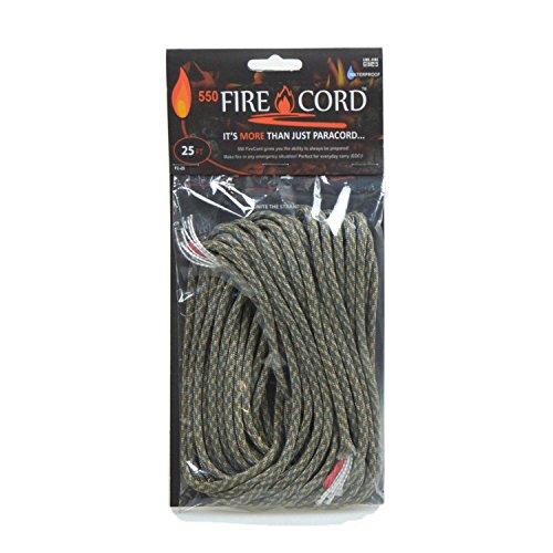 Fire Gear(ライブファイヤーギア) Live Fire Gear(ライブファイヤーギア) 550 Fire Cord(着火剤になる紐) 02-03-550f-0002 ACUデジタルカモ 25ft