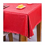 GFEI Puテーブルクロス、、正方形/長方形、ビュッフェテーブル、パーティー、お祝いディナー、結婚式などに最適,Red,55*71