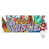 聖バジルの大聖堂のレーニン霊廟のロシアの落書き ノンスリップゴムパッドのゲームマウスパッドプレゼント