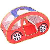 llzj Children Play Tent House CastleプリンセスPrinceインドアアウトドア使用Portable Folding Carry CubbyケースPlayground登山ストレージおもちゃゲームtent-0326車