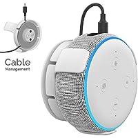 AhaStyle 壁掛式 ハンガー(ハブ付き)新しいアマゾン Echo Dot第三世代 に適用する (白い)