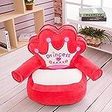 [HONGJING] キッズソファー 子供椅子 キッズチェア 肘付き プリンセス プリンス 王座 柔らか フワフワ 家飾り 可愛い オシャレ レッド 赤 50cm