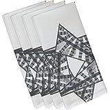 (48cm x 48cm, Gray) - E by design N4GHN564GY3 Decorative Holiday Napkin, Geometric, (Set of 4), 48cm x 48cm, Grey