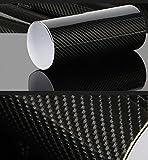 Aiqyi 車5D包装ステッカー PVC炭素繊維 高温 防水ボディステッカーDIYの装飾的なステッカー(黒)