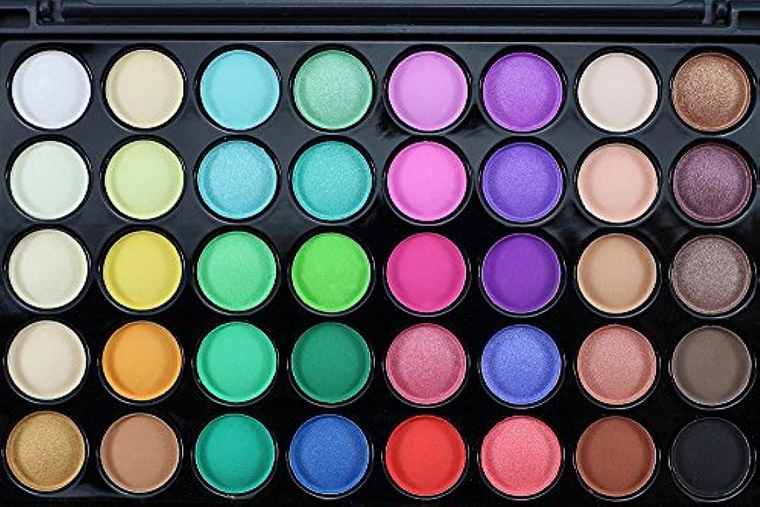 吹きさらしドキドキパケットAkane アイシャドウパレット Popfeel ファッション マット 高級 美しい 魅力的 優雅な クリーム ブラシ付き 綺麗 素敵 持ち便利 日常 Eye Shadow (40色+1本ブラシ)