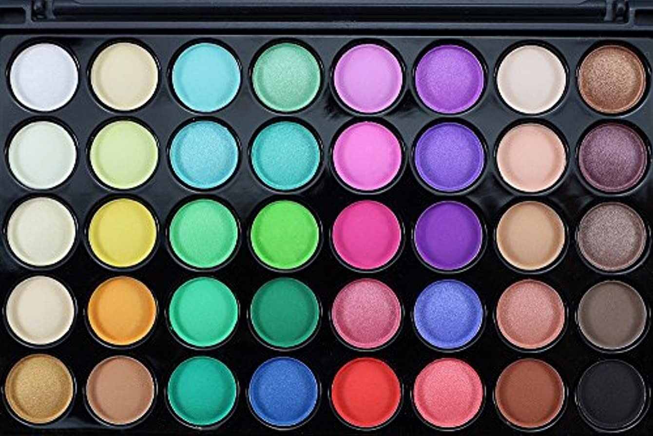 長さ原油アリスAkane アイシャドウパレット Popfeel ファッション マット 高級 美しい 魅力的 優雅な クリーム ブラシ付き 綺麗 素敵 持ち便利 日常 Eye Shadow (40色+1本ブラシ)