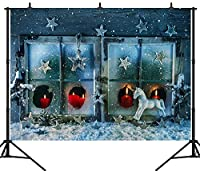 GooEoo 9X6FT(270X180CM)クリスマスデコレーションシームレスビニール背景写真写真背景スタジオプロップPGT284B