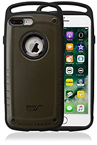 【ROOT CO.】iPhone7Plus iPhone8Plus 耐衝撃 ケース GRAVITY Shock Resist Case Pro. (マットカーキ)米軍MIL規格取得