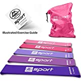 Resistance Band Resistance Bands Set of 5 Resistance Loop Bands for Legs and Butt Resistance Booty Bands for Women Exercise Bands for Fitness Elastic Gym Bands Carry Bag and Exercise Guide