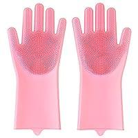 クリーニング手袋 WUUDI キッチン手袋 キッチングローブ シリコン ゴム手袋 台所用手袋 厚手 防水 耐熱