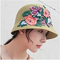 2020 Mens Womens Hats 2019 Women Wool Bowler Hat Winter Autumn Dress Hat Flower Embroidery Wool Fedora British Retro Women's Clothing Fashion Casual Soft Decoration