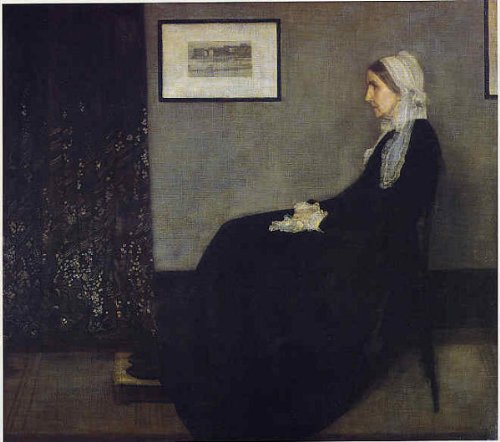 ホイッスラー・「灰色と黒のアレンジメント:画家の母の肖像」 プリキャンバス複製画・ ギャラリーラップ仕上げ(F6サイズ)