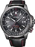 [シチズン]CITIZEN 腕時計 PROMASTER プロマスター GLOBAL SKY Eco-Drive エコ・ドライブ ワールドタイム パイロットウォッチ 多機能モデル BJ7076-00E メンズ