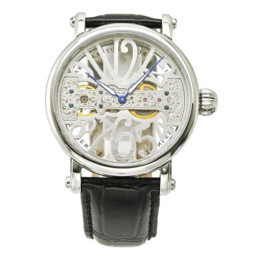 アルカフトゥーラ  ARCA FUTURA 腕時計 機械式 メンズ・牛革ベルト(ブラック) 294SKBK