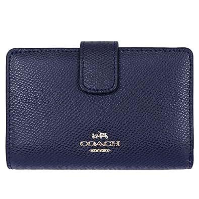 [コーチ] COACH 財布(二つ折り財布) F53436 ミッドナイト ラグジュアリー クロスグレーン レザー ミディアム コーナー ジップ ウォレット レディース [アウトレット品] [ブランド] [並行輸入品]