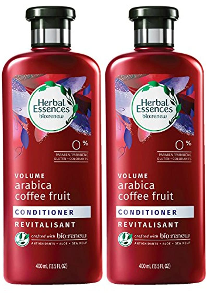 節約なんでも計画Herbal Essences Biorenewボリュームアラビアコーヒーフルーツコンディショナー、13.5液量オンス(2パック)