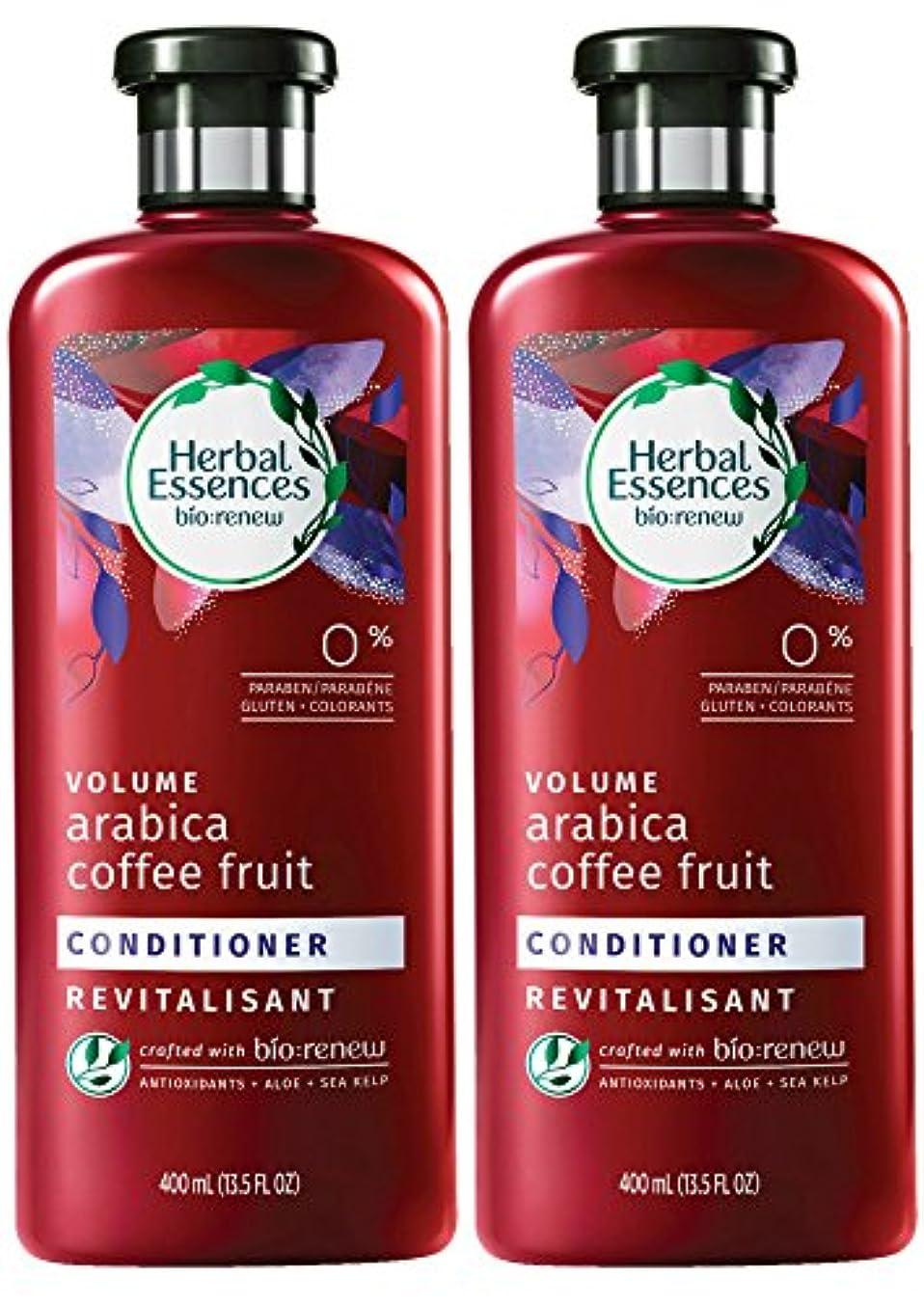 海上嵐が丘シミュレートするHerbal Essences Biorenewボリュームアラビアコーヒーフルーツコンディショナー、13.5液量オンス(2パック)