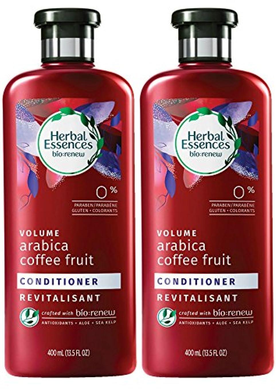 針そのような大脳Herbal Essences Biorenewボリュームアラビアコーヒーフルーツコンディショナー、13.5液量オンス(2パック)