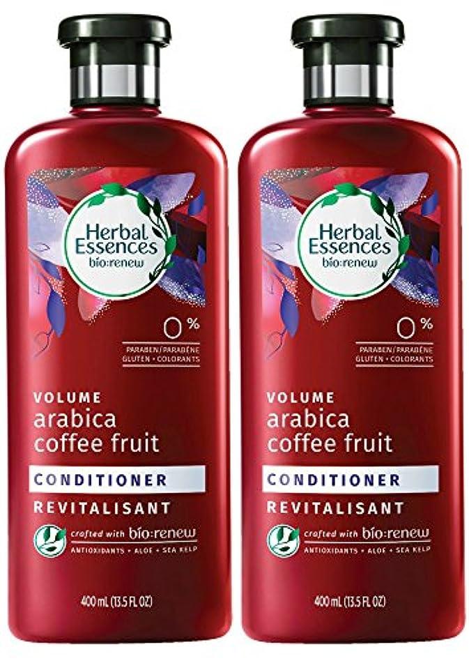 弓甥ゼロHerbal Essences Biorenewボリュームアラビアコーヒーフルーツコンディショナー、13.5液量オンス(2パック)