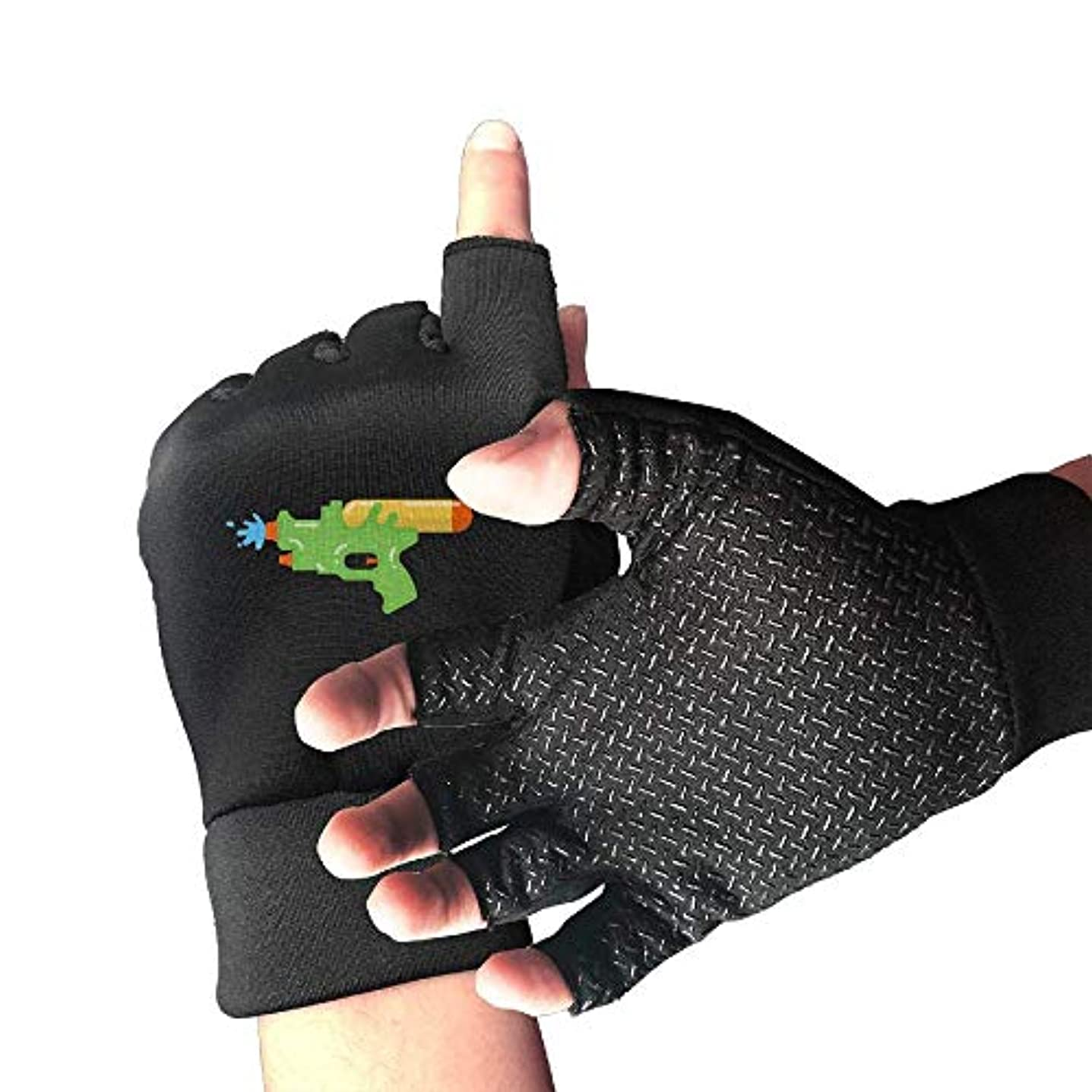 予防接種制約スライスCycling Gloves Toys Water Gun Men's/Women's Mountain Bike Gloves Half Finger Anti-Slip Motorcycle Gloves