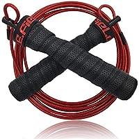 P.E.Field 縄跳び トレーニング スキップロープ 筋トレ ダイエット スポーツ フィットネス ロープ調整可能 なわとび - ワークアウト、 Double Unders 二重跳び、 Crossfit クロスフィット、 WOD、 MMA、 アウトドア活動、 で体重を落とす&ボクシングトレーニング