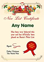 Merry Personalized Christmas Santa 's Niceリスト証明書