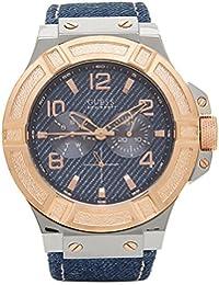 (ゲス) GUESS ゲス 時計 GUESS W0040G6 RIGOR リガー メンズ腕時計 ウォッチ ブルー/ゴールド [並行輸入品]