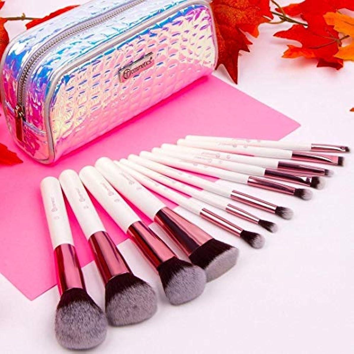 考慮彫刻アクションBH cosmetics メイクブラシ アイシャドウブラシ 化粧筆 12本セット コスメブラシ 多機能メイクブラシケース付き収納便利 (12本セット)