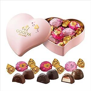 ゴディバ (GODIVA) ラッピングチョコレート ハート缶 (10粒入)