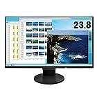 【タイムセール】EIZO 238型モニターIPSフレームレスブルーライト軽減HDMI DisplayPort 5年間無輝点保証クリーナー付属 EV2451RBKAZが激安特価!
