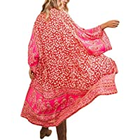 Bsubseach Womens Chiffon/Rayon Beach Blouses Kimono Cardigan Long Bikini Cover Up