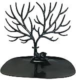 インテリア シカ型 ジュエリー スタンド ラック アクセサリー ツリー 小物入れ 台座 ネックレス ピアス イヤリング ブレスレット 宝石 の 収納 に (ブラック)