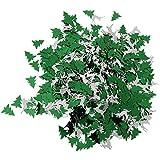 Perfeclan 約30g 紙吹雪 クリスマス コンフェッティ パーティー装飾 多仕様選べ - グリーン+シルバー