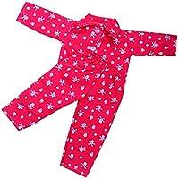 Dovewill ドール用  かわいい  パジャマセット 寝間着  18 インチ アメリカ女の子人形対応  全4色  - 2