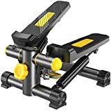 NSHUN Mini Stepper Pedal, Climber Step Fitness Exercise Machine with Resistance Band and LCD Display for Women Man