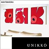 ファブリックパネル アリス marimekko UNIKKO ウニッコ 40×40×2.5cm 3枚セット レッド マリメッコ ボード アート 北欧 【同梱可】