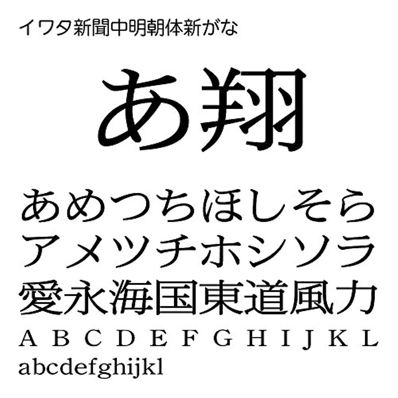 イワタ新聞中明朝体新がなPro OpenType Font for Windows [ダウンロード]