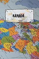 Kanada: Liniertes Reisetagebuch Notizbuch oder Reise Notizheft liniert - Reisen Journal fuer Maenner und Frauen mit Linien