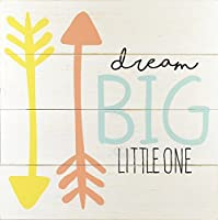 Linden Ave Wall D?cor AVE10078 Dream Big Little One [Floral] [並行輸入品]