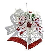 クリスマスツリー オーナメント ハンギング ベル Xmas ホーム ドア 飾り 6タイプ選べ - 28.5*22*4cm