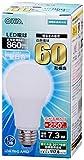 OHM LED電球 60形相当 口金直径26mm 昼白色 広配光 密閉器具対応 [品番]06-3285 LDA7N-G AH52