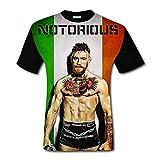 メンズ t シャツ おしゃれ 夏 半袖 プリント Conor McGregor Notorious UFC T-SHIRT