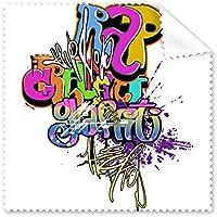 Graffiti Street CultureカラフルRap Words Art Illustrationパターン眼鏡布クリーニングクロス電話画面クリーナー5点