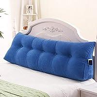 取り外し可能なクッションダブルピローベッドベッドバックベッドマルチカラーオプションの大きな枕超快適 SMBRB (Color : B, Size : 200*25*50cm)