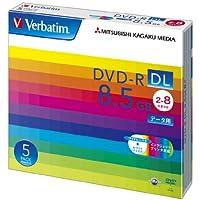 三菱化学メディア Verbatim DVD-R DL 8.5GB 1回記録用 2-8倍速 5mmケース 5枚パック ワイド印刷対応 ホワイトレーベル DHR85HP5V1