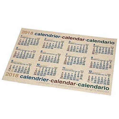 エトランジェディコスタリカ 2018年 カレンダー 壁掛け B2 ナチュラル CLP-B2-03