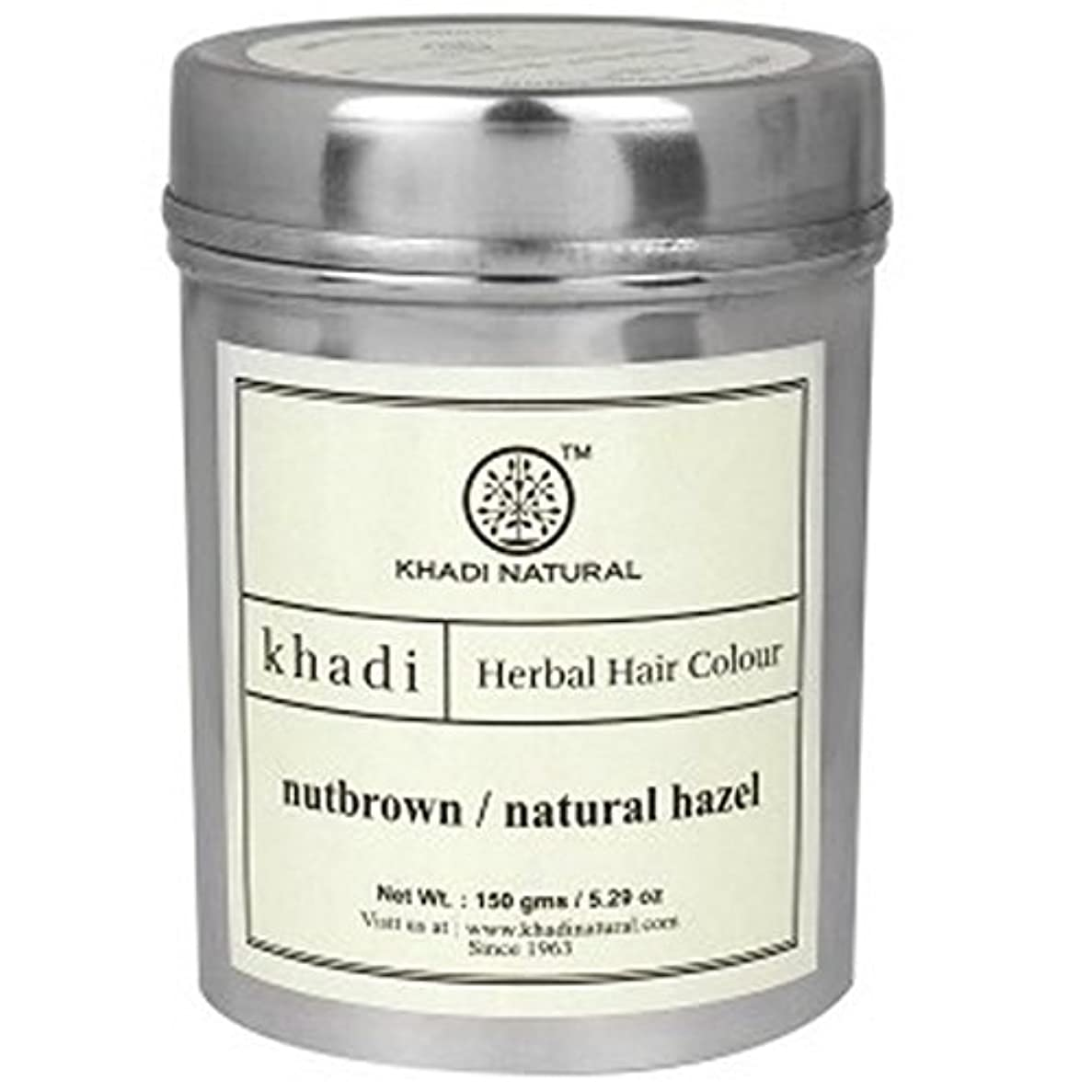 を通して外側チューインガムKhadi Natural Nutbrown / Natural Hazel Herbal Hair Colour