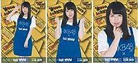 AKB48 川本紗矢 ヴィレッジヴァンガード オフィシャルエプロン ver 生写真 3種