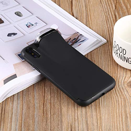KMLP-JP 以下のためのiPhone X/XS PC + TPU耐震性の保護バックケース付きAirPods収納ボックス(ブラック) 適用 カバー (色 : Black)