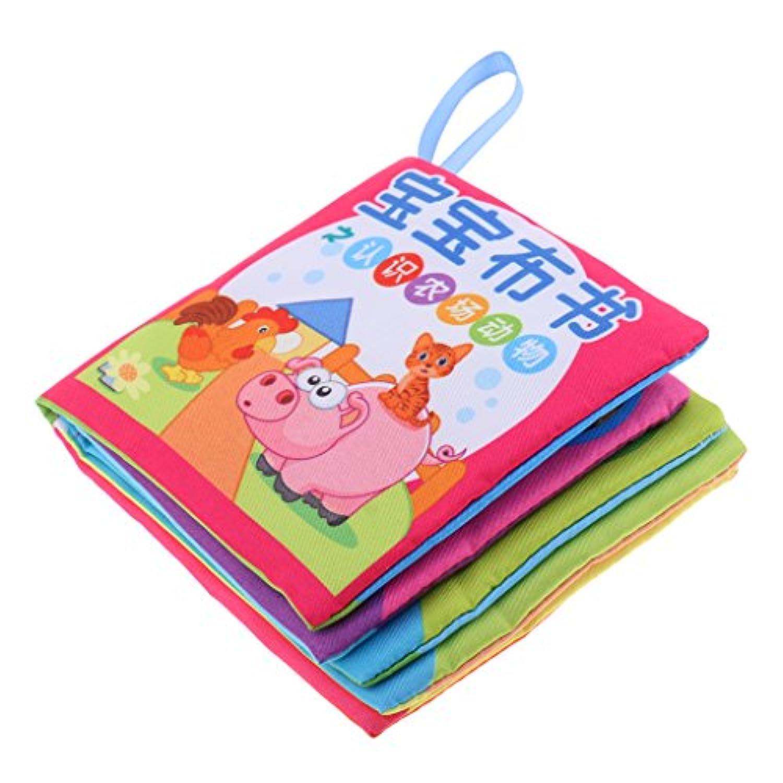 柔らかい布monkeyjack 10ページCognize耐久性Book中国英語色図形教育玩具ベビーキッズ開発ファーム動物
